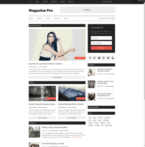 Publishing never came easier than using the Magazine Theme with a media-ready design