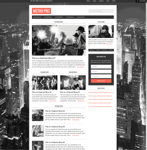 Widescreen publishing framework with a magazine flair