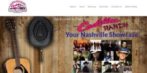 Bar & Restaurant website - Cadillac Ranch Restaurant - Home