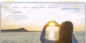 Travel Agency Website - TMB Lets Travel - Home