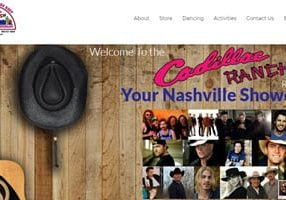 Bar & Restaurant website - Cadillac Ranch Restaurant - Home
