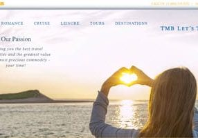 Travel Agency Website - TMB Lets Travel - Home